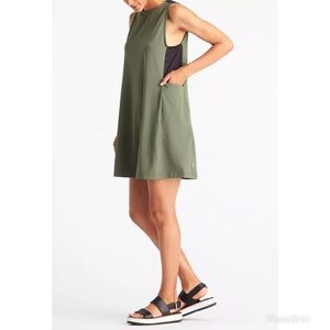 Lucy Get It Together Mesh Green Relaxed Dress